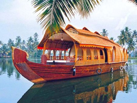 Houseboat Students In Alleppey
