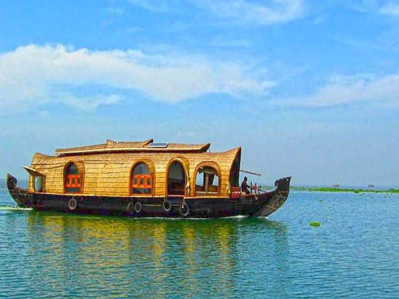 Houseboat Family In Alappuzha