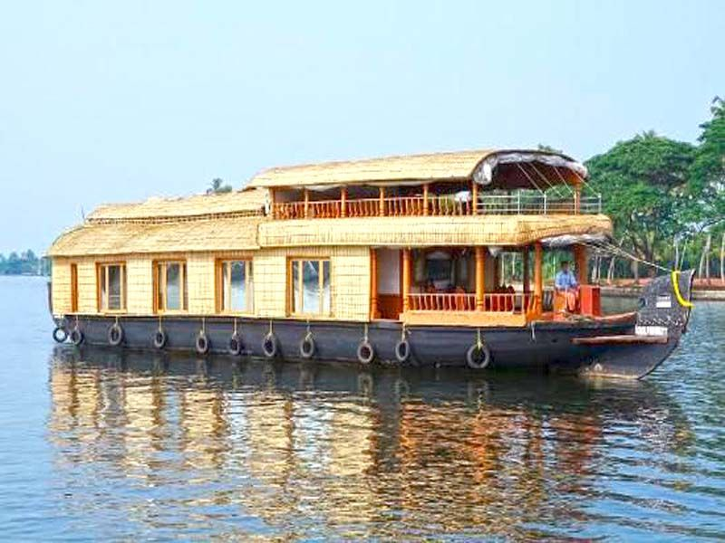 Houseboat Family In Alleppey