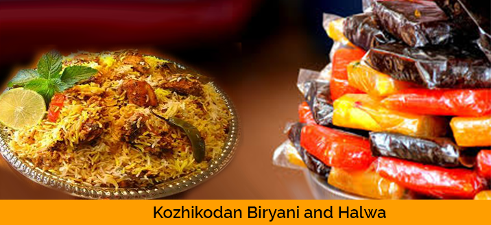 Kozhikodan biriyani and halwa